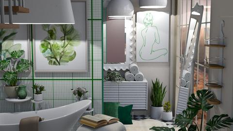 free standing bath - by Celia Schrag