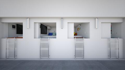 Spaceship Bunks - Minimal - Bedroom  - by Sophia Cooper