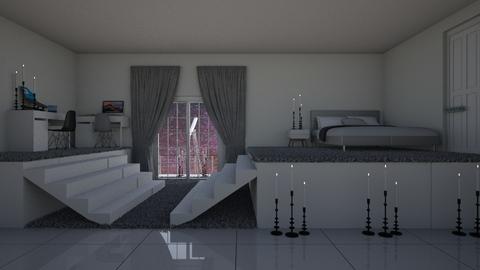 Monochrome mixing - Bedroom  - by logz mcw