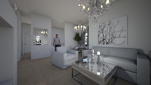 white1 - Living room  - by Aga1977