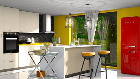 S_Modern Playful  - Kitchen - by Shajia