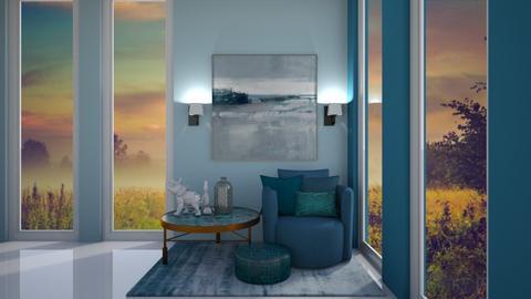 blue - Living room - by belle alderton