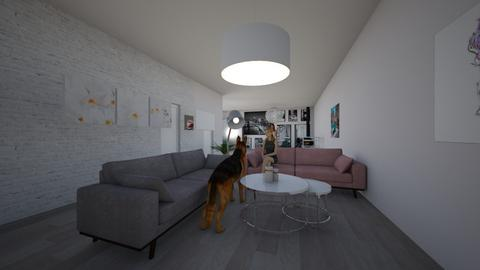 house with bestie - Living room  - by lupeeuh