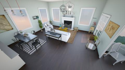 rustic modern livingroom  - Rustic - Living room  - by Trishtan marie
