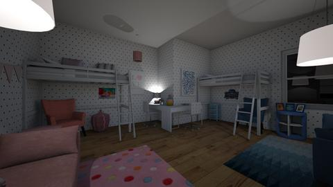 Twins Blue And Pink - Eclectic - Kids room  - by EllaRyd