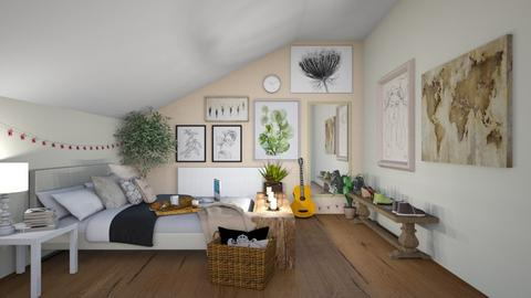 Sloped ceiling 1 - Bedroom  - by ens15