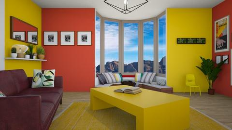 red and yellow - Living room - by deleted_1590837683_jojoclik