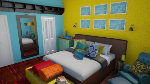 susannas room - Retro - Bedroom  - by DonnaLu
