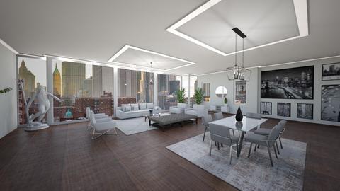 20 W 53rd St Unit 43FLR - Living room  - by sfurkan