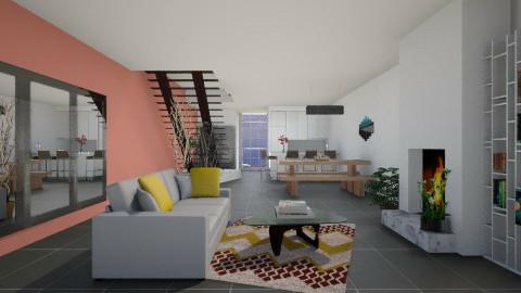 Volcanic splash - Modern - Living room  - by nikanarbut