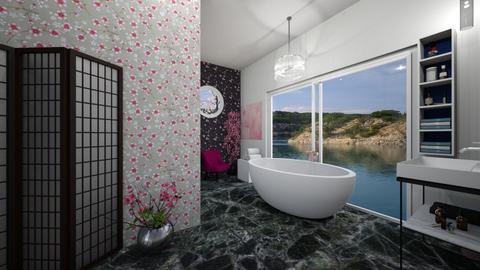 Cherry Blossom Bathroom - Bathroom  - by MyDesignIdeas