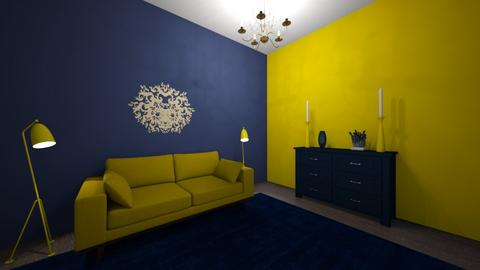navy and mustard  - Living room  - by demi05
