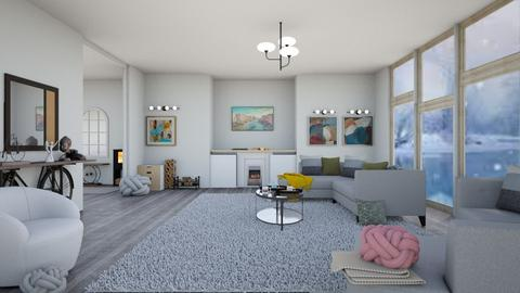 Winter dayyy - Modern - Living room  - by quesal0l2347
