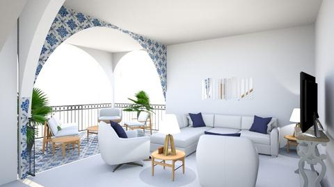 Mediterranean Retreat - Living room - by pschmitt