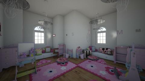 twin girls room toddlers - by karissarocks101