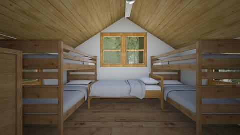 Small Summer Camp Cabin - Bedroom  - by SammyJPili