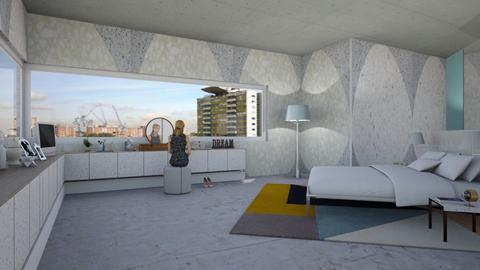 IP Terrazzo bedroom - Modern - Bedroom  - by kitty