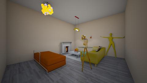 orange living room - Living room  - by Olivia114