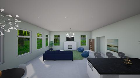 Final Project ID 101A - Modern - Living room - by YoCristy
