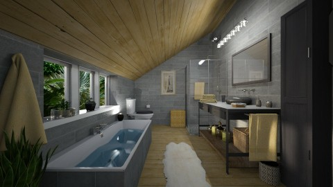 Attic Oasis - Bathroom  - by Lackew