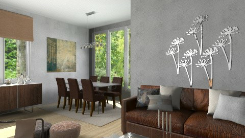 Leather with steel - Modern - Living room  - by Tuija