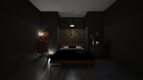copper bedroom - Rustic - Bedroom  - by bumbleB33
