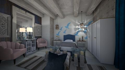 Summer_Beach_Island_BedRoom - Country - Bedroom  - by Nikos Tsokos