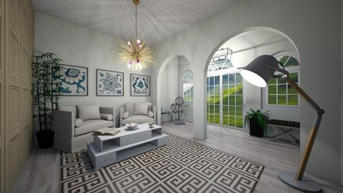 Modern Greek Living - Living room  - by brownbox