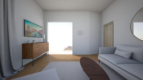 Living room rug white 11 - Living room  - by MarikaMV