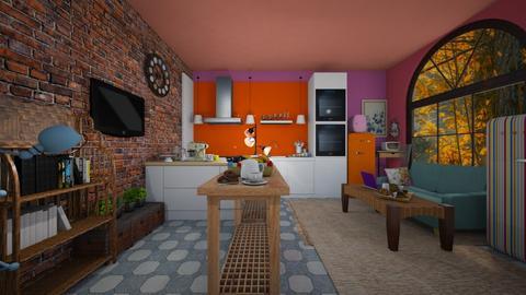 Aesthetic Kitchen - Feminine - Kitchen  - by BoilinsIslesDesigns