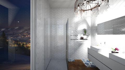 aspen chalet - Living room - by vikyyym