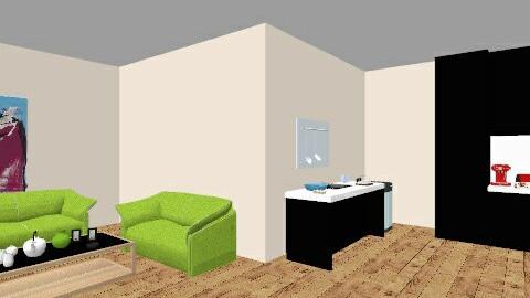 kitchen and room - Kitchen  - by anastasia19