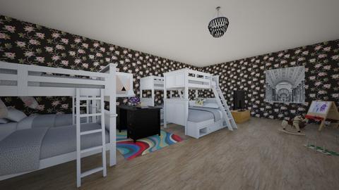 Kids room for 8 - Modern - Bedroom  - by katiebobatie