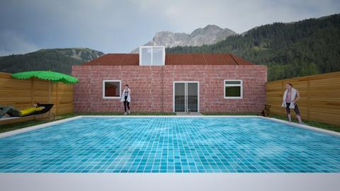 swimming 2 - Garden - by lokneszikolbasz