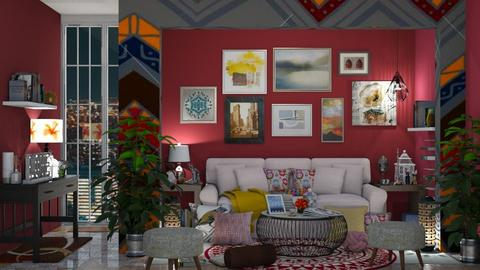 E6_Maximalist Living Room - Living room - by allessa