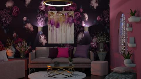 Pink and Purple Living - Living room  - by Sue Bonstra