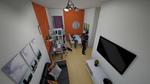 Azul Petroleo - Living room - by Franciele Oliveira