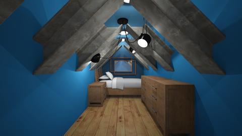 Attic Blue - Rustic - Bedroom  - by jaiden2006