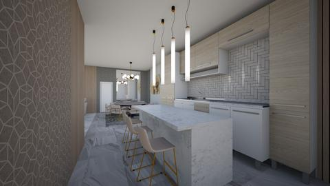 Living Dining and Kitchen - Modern - by danes