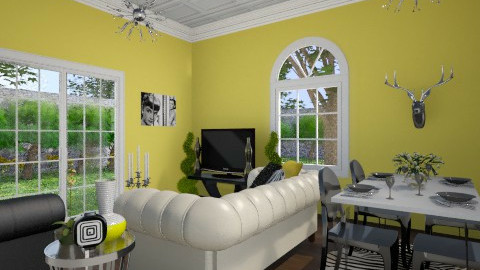 Black and Yellow - Modern - Living room - by JazzyAllen