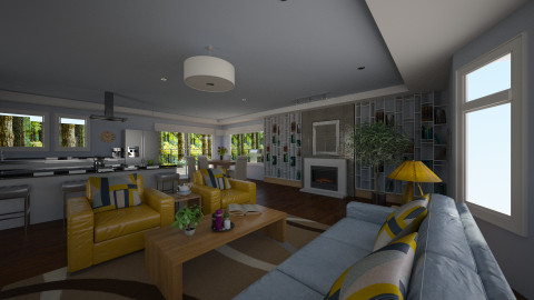 My LR in pastel  - Eclectic - Living room  - by JeroenBekkers