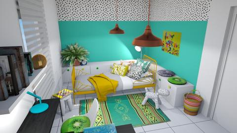 Turqouise - Bedroom - by chania