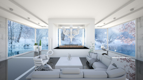 The White Lake house - Living room  - by Tuubz
