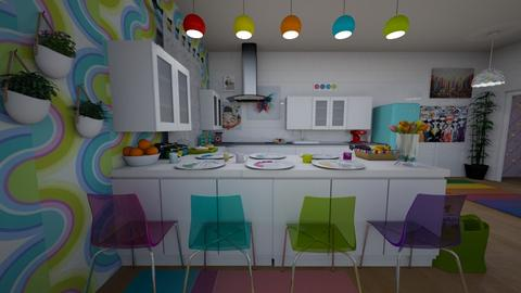 Modern colourful kitchen - Modern - Kitchen - by Liberty Interior