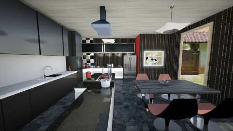 cozinha in black - Eclectic - Kitchen  - by deleted_1620345943_kellassuncao