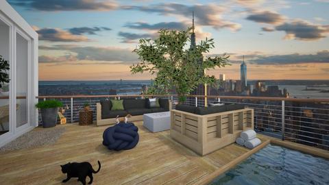rooftop terrace - Modern - by moomusr