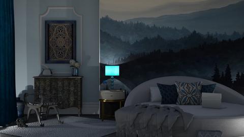 blue light - Bedroom  - by nat mi