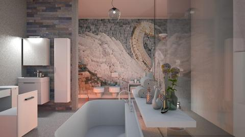 Swan_Mozaic - Bathroom  - by ZuzanaDesign