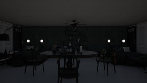All Black Twin Room - Eclectic - Bedroom  - by Twice and Momo