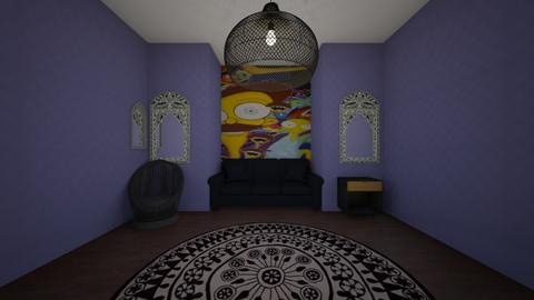 basic trippy room - Modern - Living room  - by bumbleB33